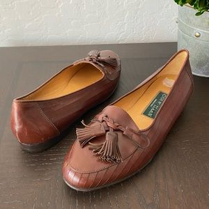 Cole Haan Loafers Tassels Camel Brown size 5.5